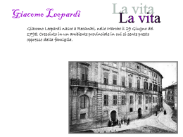 Giacomo Leopardi - scuolapiancavallo.it