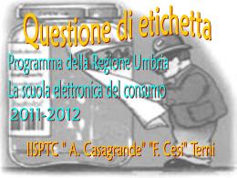 """Diapositiva 1 - """"A. Casagrande"""" """"F. Cesi"""" di Terni"""
