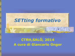 Setting formativo fra adulti