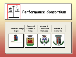 Scarica documento Performance consortium slide definitivo