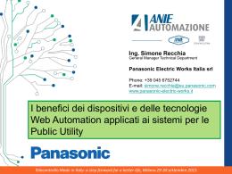 Titolo Presentazione - Panasonic Electric Works