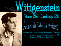 Wittgeisten a cura di Autiero Fabiola