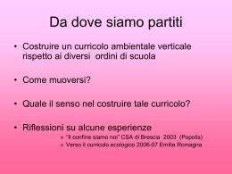 slides in sintesi - Scuola Primaria Asiago