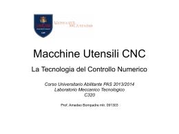 Macchine Utensili CNC - Lavorazioni Meccaniche