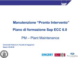 Lezione 2 SAP PM
