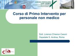 Corso di Primo Intervento per personale non medico