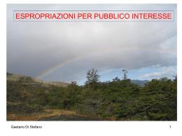 ESPROPRIAZIONI PER PUBBLICO INTERESSE