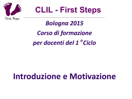 CLIL_First-Steps-Bologna15 - Istituto Comprensivo 20 Bologna