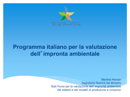 CARBON FOOTPRINT - Ministero dell`Ambiente