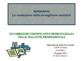 Gli obblighi certificativi nelle malattie