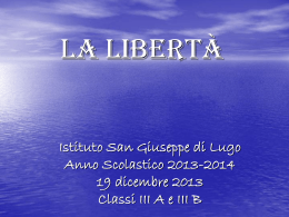 La libertà power point riassuntivo - Home