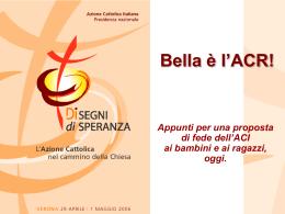 La nuova proposta ACR - Azione Cattolica Italiana