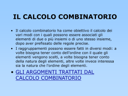 IL CALCOLO COMBINATORIO - pagina altervista righi