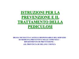 Istruzioni per la prevenzione e il trattamento della pediculosi