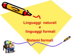 INF_linguaggi naturali e linguaggi formali(2)