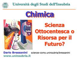Chimica, scienza ottocentesca o risorsa per il futuro?
