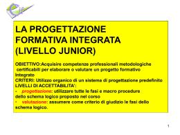 Progettazione Formativa Integrata-Livello Junior