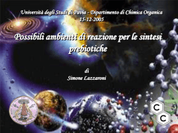 Possibili ambienti di reazione per le sintesi