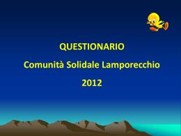 Diapositiva 1 - Comunità Solidale Lamporecchio