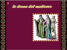Le donne del medioevo