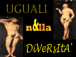 uguali diversit   - Liceo Scienze Umane Sanvitale