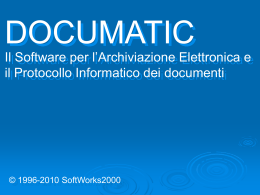 Demo di Documatic