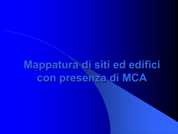 mappatura - Regione Marche