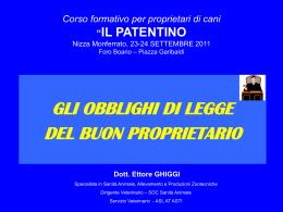 """Corso formativo per proprietari di cani """"IL PATENTINO"""" Asti, 15"""
