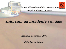 Infortuni da incidente stradale
