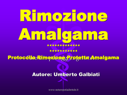 Rimozione amalgama in Power Point