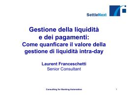 Gli attrezzi della gestione della liquidità