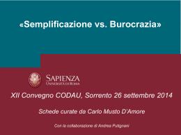 Semplificazione vs. Burocrazia – Ranalli