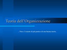 L`organizzare