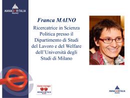 le slide dell`intervento di Franca Maino