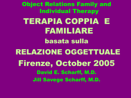 Object Relations Family Therapy - Istituto di Terapia Familiare di