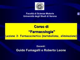 Lezione Farmacocinetica 2 (vnd.ms-powerpoint, it, 1677 KB, 1/19/10)