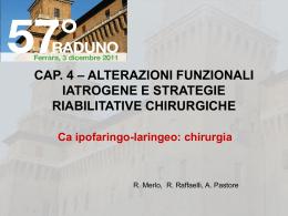 Alterazioni funzionali iatrogene e strategie riabilitative chirurgiche
