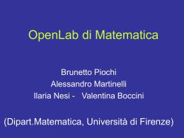 openlab viareggio - Dipartimento di Matematica e Informatica