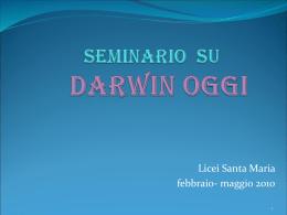 Seminario su Darwin oggi