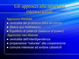 Relazioni internazionali e Unione Europea