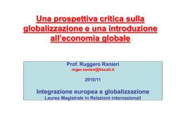 1- Introduzione,globalizzazione