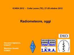 Radiometeore oggi - ISIS Dante Alighieri Gorizia