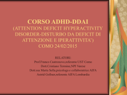 CORSO ADHD-DDAI (ATTENTION DEFICIT HYPERACTIVITY