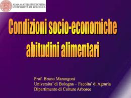 3. Condizioni socio economiche e abitudini