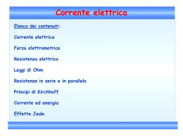 Corrente elettrica - Liceo Statale Rinaldo d`Aquino