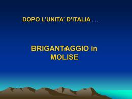 Il brigantaggio in Molise dopo l`unità d`Italia