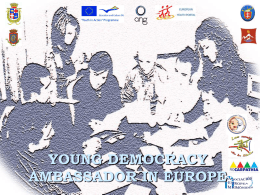 young democracy ambassador in europe