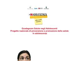Presentazione progetto inadolescenza - Consultori Emilia