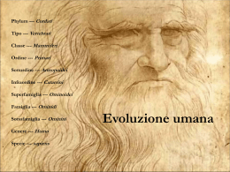 Evoluzione umana - Liceo Galileo Galilei