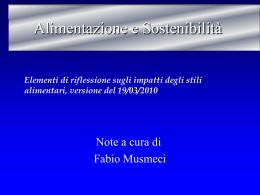 Materiale didattico Fabio Musmeci_Alimentazione